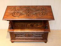 Carved Oak Monks Bench (8 of 10)