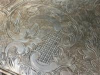 Antique Victorian Serpentine English Silver Plate Acanthus Salver Tray (13 of 13)