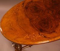 Victorian Burr Walnut Window Table (4 of 6)