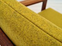 "Danish Design by Illum Wikkelsø Armchair ""Capella"" Series, 70s, Teak, Renovated-reupholstered (12 of 13)"