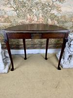 Carved Georgian Style Fold Over Card Table (6 of 8)