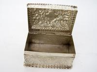 Decorative Rectangular William Comyns Victorian Silver Box (5 of 8)