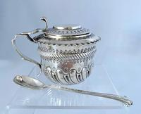Sterling Silver Mustard Pot in the 17th Cent Style. London 1880.