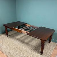 Large Victorian Walnut Antique Extending Dining Table (4 of 7)