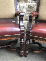 Matching Pair Antique Oak Benches (4 of 14)
