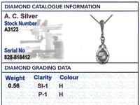 0.56ct Diamond & 18ct Yellow Gold Pendant - Antique c.1900 (7 of 9)