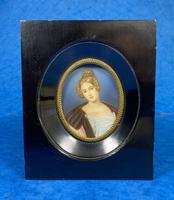 1920s Signed Ebonised Painted Miniature Frame (2 of 10)