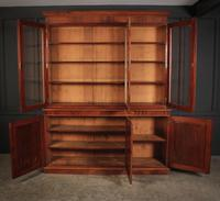 Large Victorian Mahogany Triple Bookcase (2 of 4)