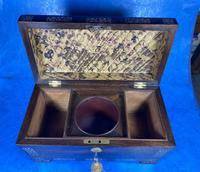 William IV Rosewood Tea Caddy With Mother of Pearl Inlay (11 of 15)