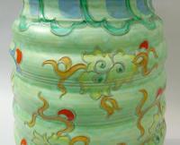 Charlotte Rhead Tube Lined Vase Manchu Dragon Design (9 of 9)