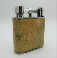 Rare Stunning Unique Art Deco Shagreen Lift Arm Lighter c.1930 (2 of 13)