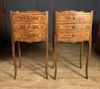 Pair of French Inlaid Tulipwood Bedside Tables (8 of 11)