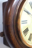 Rare HAC 7 Inch Dial Wall Clock Oak surround painted dial station clock (5 of 5)