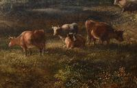 Victorian Oil Painting English Norfolk Landscape Rustic c.1860 Arcadia (8 of 17)