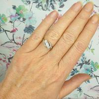 Vintage 18ct Platinum diamond trilogy ring c1930s ~ 1950s (7 of 10)