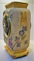 Delightful & Unusual 1900 French Pottery Mantle Timepiece (3 of 5)
