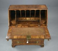 Antique Rare Small Georgian Walnut Bureau (5 of 10)