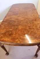 Quality Antique Burr Walnut Dining Table (9 of 14)