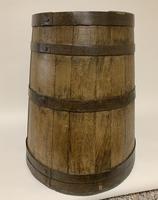 Antique Oak Coopered Barrel Stick Umbrella Stand (2 of 5)
