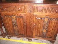 Grape Carved Oak Court Cupboard (3 of 3)