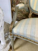 French Gilt Painted Two Seater Settee (4 of 8)