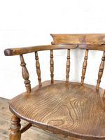 Antique Beech & Elm Smoker's Bow Chair (3 of 8)