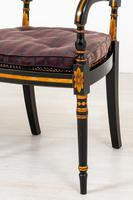 Pair of Ebonised Regency Style Open Armchairs (2 of 9)