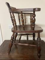 Victorian Ash & Elm Smokers Chair (9 of 10)