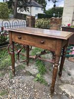 Antique Victorian Oak Writing Table Desk