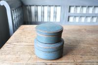 Swedish 'Folk Art' original blue painted wooden storage box / jar 19th Century (12 of 15)