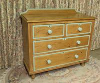 Victorian Stripped Pine Chest of Drawers Sage Painted Trim (5 of 8)