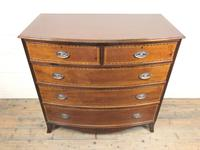 Quality 20th Century Bow Front Mahogany Chest of Drawers (M-1537) (10 of 11)