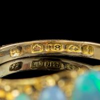 Antique Edwardian Opal Five Stone Ring 18ct Gold Dated 1908 (5 of 6)