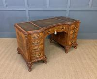 Burr Walnut Pedestal Desk by Maple and Co (9 of 18)
