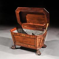 Regency Mahogany Wine Cooler Cellarette of Sarcophagus Form (10 of 10)