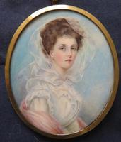 Wedding Day Miniature Portrait Edwardian Bride 1910 (5 of 5)