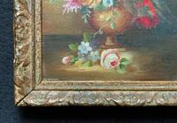 Superb Original Early 20th Century Continental Miniature Floral Still Life Oil Painting (9 of 11)