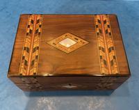 Victorian Walnut & Tunbridge Ware Jewellery Box (3 of 11)