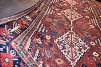 Antique Khamseh tribal rug 217x124cm (2 of 10)