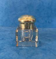 Victorian Cut Glass Inkwell with a Brass Top (10 of 10)