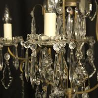 French Gilded Birdcage 5 Light Antique Chandelier (4 of 10)