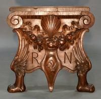 An Impressive Italian Carved Walnut Hall Bench (2 of 6)