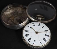Antique Silver Pair Case Pocket Watch Fusee Verge Escapement Key Wind Enamel P Edmonds Liverpool (2 of 10)