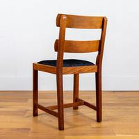 Set of 6 1930s Golden Oak Dining Chairs in the Manner of Heal's (7 of 16)
