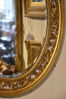 Carved Open Fretwork Giltwood Oval Mirror (2 of 3)