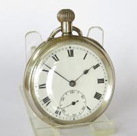 Antique 1919 Swiss Silver Pocket Watch (2 of 5)