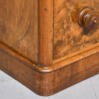 Victorian Burr Walnut Chest of Drawers c.1860 (6 of 8)