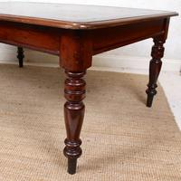 Large Library Desk Mahogany Leather 19th Century (6 of 9)