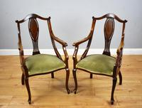 Victorian Mahogany & Inlaid Lounge Suite (11 of 23)