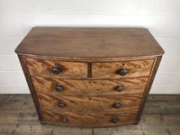 19th Century Mahogany Bow Front Chest of Drawers (2 of 12)